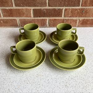 VTG Stoneware Coffee Mugs (4)
